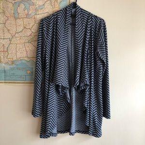 Blue Wrap Cardigan Sweater | Large